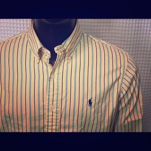 Ralph Lauren Yellow and Blue Striped Button Down